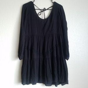 Lovers + Friends Crochet Babydoll Low Back Dress